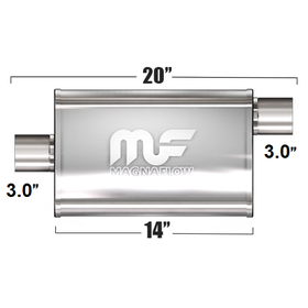 "Глушитель Magnaflow 4""x9""x14""  3""IN/3""OUT"