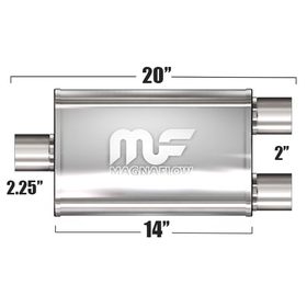 "Глушитель Magnaflow 3.5""x7""x14""  2.25""IN/2x2""OUT"