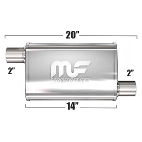 "Глушитель Magnaflow 3.5""x7""x14""  2""IN/2""OUT"