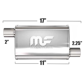 "Глушитель Magnaflow 3.5""x7""x11""  2""IN/2.25""OUT"