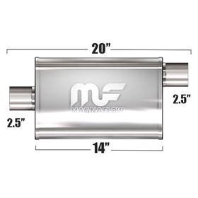 "Глушитель Magnaflow 4""x9""x14""  2.5""IN/2.5""OUT"