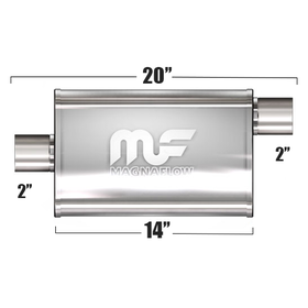 "Глушитель Magnaflow 4""x9""x14""  2""IN/2""OUT"